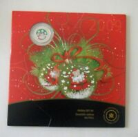 CANADA  2009  7-COIN HOLIDAY GIFT SET W/ 25 CENT COLORED SANTA COIN