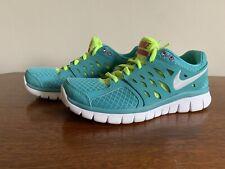 VVGC Nike Flex 2013 Run Trainers UK 4 EU 37.5 Turquoise And Neon Green