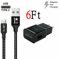 For OME Samsung Galaxy Note8 S8 S9 Plus Fast OEM Wall Charger+ 6FT Type C -CABLE