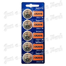 5 SONY CR2016 DL2016 CMOS Lithium 3V Watch Battery Exp 2024 Ships FREE from USA!