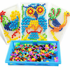Children Kids Puzzle Peg Board With 296 Pegs Educational Toys Creative Gifts New