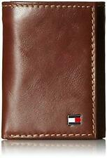 Tommy Hilfiger Men's Logan Leather Credit Card Trifold Zipper Wallet 31TL11X018