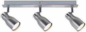 Paulmann Spotlights MeliLED Balken 3x3,5W GU10 230V Nickel satiniert Metall