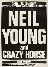"""Neil Young Dutch 16"""" x 12"""" Photo Repro Concert Poster"""