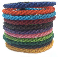 "The ""Twist"" Waxed Braid Weave Cord Thai Cotton Wristband Wristwear"