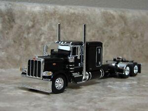 DCP 1/64 Black Flattop Peterbilt Semi Truck Farm Toy
