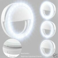 Selfie Light LED Ring Flash Fill Clip Camera For Phone iPhone Samsung HTC