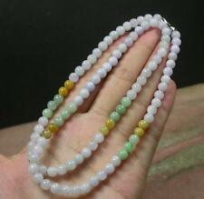 3 color Lavender Green 100% A JADE JADEITE Bead Beads Necklace 21inch 279815 US