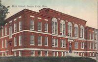 Tinted Postcard High School in Fergus Falls, Minnesota~124512