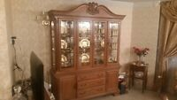 Vintage Antique China Cabinet with Hutch