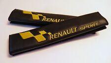 Copricinture per auto RENAULT SPORT scritta ricamata gialla 1 coppia