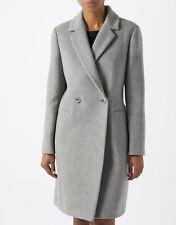Monsoon Grey Henrietta Wrap Wool Trench Crombie Midi Winter Jacket Coat 6 - 22
