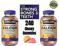 Calcium 500 mg Gummie Vitamins Vitamin D 1000IU D3 Adult Supplement 240 Ct.