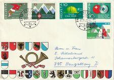 1970 Switzerland/Helvetia cover sent from Andelfingen to Neugablonz