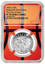 2020S Basketball Hall Fame Clad Half Dollar NGC PF70 FDI Basketball Core