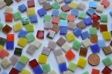 150g Tiffany Glas Mosaiksteine Buntmix 1x1cm, ca 210 St.