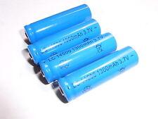 4  batterie 14500 /1300 mAh  al litio 3,7 volt ricaricabili  tipo industria