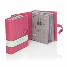 Large Little Book Of Earrings Pink 4 Page Jewellery Storage Box Book