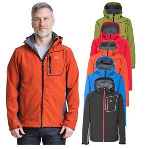 Trespass Strathy II Mens Softshell Jacket Breathable & Waterproof Coat With Hood