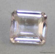Natural Piedra Suelta Octágono facetada Gema de color Rosa Kunzita 7.5X8MM 2.3CT KU12