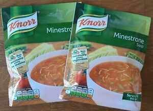 Knorr Minestrone Soup Sachets A lot of 2, each packet serves 4 (2x60g)