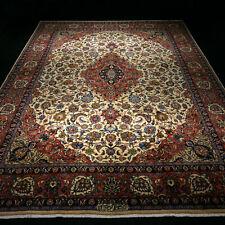 Orient Teppich Beige 400 x 297 cm Perserteppich Rot Handgeknüpft Red Carpet Rug
