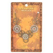 Steampunk Gear Pendant Necklace Multicolorful Chic Accessory Charm Choker