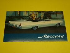 1966 MERCURY MONTEREY CONVERTIBLE POSTCARD, DEALER ADVERTISEMENT
