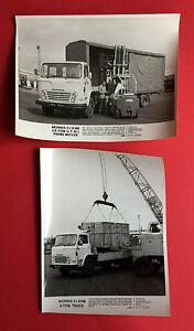 2 x Grossfoto Pressefoto Werksfoto Auto LKW Bus Morris FJ K 360, K160 ( F15420