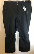 COLUMBIA SNOW SKI PANTS Men's XXL CHILIWACK PANT TROUSERS BLACK WATERPROOF