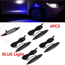 4X Blue LED Car Fender Wheel Eyebrow Lights Atmosphere Lamp 3 Modes Flash Strobe