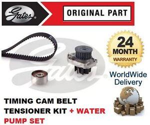 FOR FIAT GRANDE PUNTO 1.2 1.4 2007-> TIMING CAM BELT TENSIONER + WATER PUMP SET