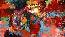 100% Hand Painted Oil Painting on Canvas,LeRoy Neiman rocky vs apollo 36×64inch