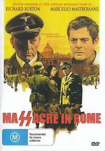 Massacre in Rome DVD Richard Burton New and Sealed Australia