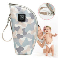 USB Baby Bottle Warmer Heater Insulated Bag Travel Cup Milk Thermostat Bag
