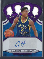 AARON HOLIDAY 2018-19 PANINI CROWN ROYALE PURPLE AUTO AUTOGRAPH RC #/25 PACERS