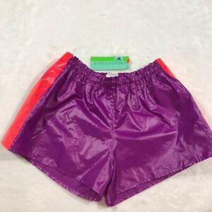 ADIDAS shorts Small NEW W FLAW stella sport purple orange short mccartney nylon