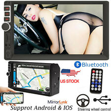"""7"""" Double Din Car Stereo Radio FM MP5 Player 1080p MirrorLink For Android & IOS"""