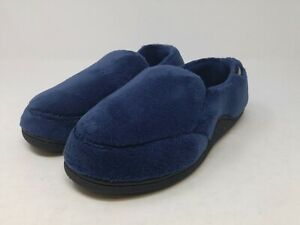 Isotoner Mens Navy Terry Moccasin 8-9 US