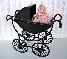 1:12 - Puppenhaus Miniatur Kinder-Wagen schwarz (02)