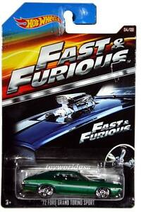 2015 Hot Wheels Fast & Furious #4 '72 Ford Grand Torino Sport Fast & Furious