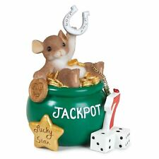 Charming Tails 'Wishing You Lots of Luck' Mouse Figurine Gift, 89384