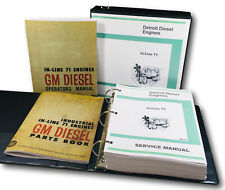 DETROIT IN LINE 71 DIESEL ENGINE SERVICE PARTS OPERATORS MANUAL 3-71 4-71 6-71