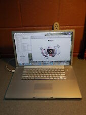 "Apple Powerbook G4 Aluminum A1085 17"" 1.5 Ghz 2.0GB 120GB SuperDrive OS 10 5 8"