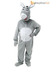 Adult Donkey Big Head Fancy Dress Nativity Christmas Shrek Mascot Costume Outfit