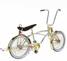 "New 20"" Lowrider Bike Chrome-Gold with 72 spokes Bent Fork"