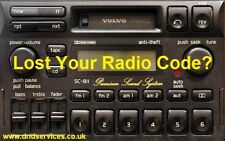 Volvo Radio Code Decode Unlock Codelocked Service SC 811 813 815 816 835 900 901