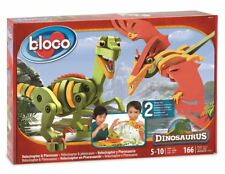 Bloco Construction Toy - Velociraptor and Pterosaur