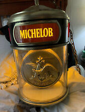 Vintage 1980S Beautiful Michelob Revolving Hanging Light Works Great!