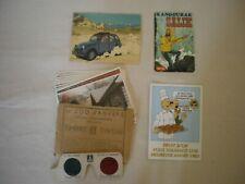 TINTIN : Un lot de cartes publicitaires ,autocollant et photos du timbre TINTIN.